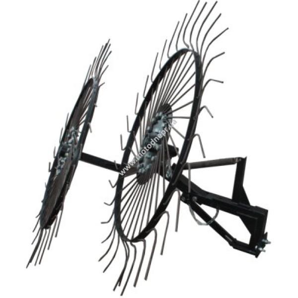 Грабли Солнышко на 2 колеса (КРЧ)
